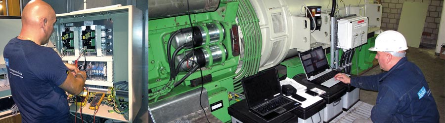 Commissioning service and commissioning assistance for all kinds of generators